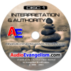 Interpretation & Authority CD label art